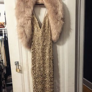 Forever 21 gold gown (Fauz Fur shall is separate)